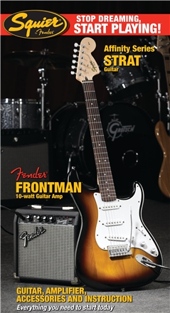 Stop Dreaming, Start Playing!™ Set: Affinity Series™ Strat® with Fender Frontman® 10G Amp - Brown Sunburst