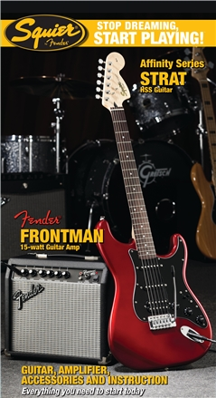 Stop Dreaming, Start Playing!™ Set: Affinity Series™ Strat® HSS with Fender Frontman® 15G Amp - Candy Apple Red