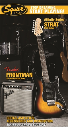 Stop Dreaming, Start Playing!™ Set: Affinity Series™ Strat® HSS with Fender Frontman® 15G Amp - Brown Sunburst