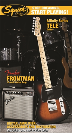 Stop Dreaming, Start Playing!™ Set: Affinity Series™ Tele® with Fender Frontman® 15G Amp - Brown Sunburst