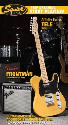 Stop Dreaming, Start Playing!™ Set: Affinity Series™ Tele® with Fender Frontman® 15G Amp - Butterscotch Blonde