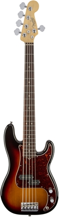 American Standard Precision Bass® V - 3-Color Sunburst