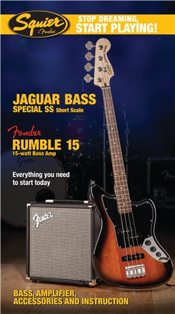 Stop Dreaming, Start Playing!™ Set: Jaguar® Bass Special SS with Fender® Rumble™ 15 Amp - Brown Sunburst