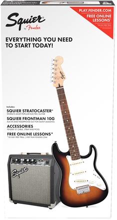Strat® SS Pack (Short-Scale) - Brown Sunburst