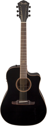 F-1020SCE Dreadnought Cutaway - Black