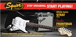 Stop Dreaming, Start Playing!™ Set: Affinity Series™ Strat® with Fender Frontman® 10G Amp - Black