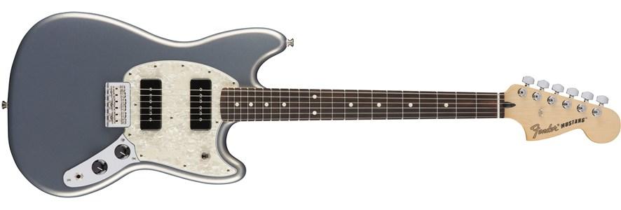Fender Mustang 90, Rosewood Fingerboard, Silver