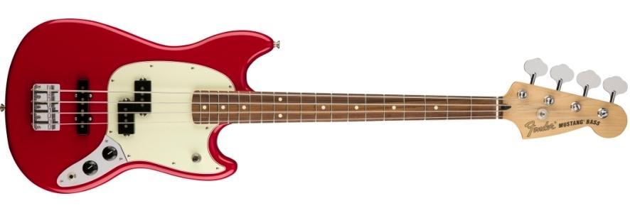 Mustang® Bass PJ - Torino Red