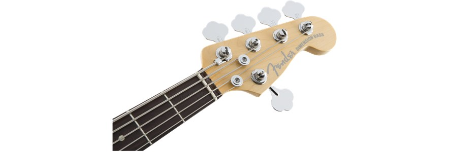 American Elite Dimension™ Bass V HH - Cayenne Burst