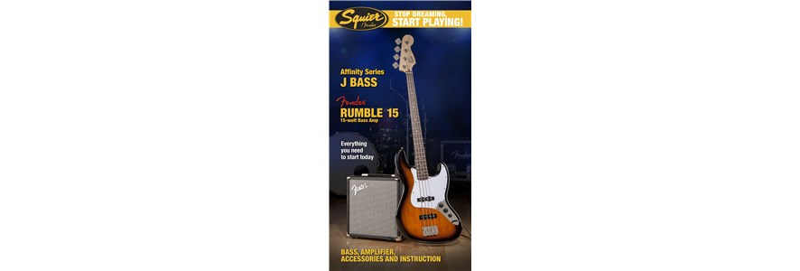 Stop Dreaming, Start Playing!™ Set: Affinity Series™ Jazz Bass® with Fender® Rumble™ 15 Amp - Brown Sunburst