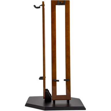 Fender Hanging Wood Double Guitar Stands - Cherry Stain