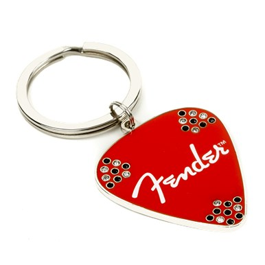 Fender® Red Pick Keychain -