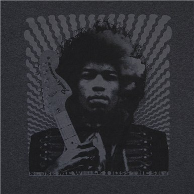 "Fender™ Jimi Hendrix® Collection ""Kiss the Sky"" T-Shirt - Gray"