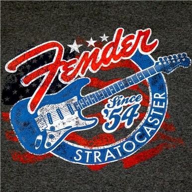 Fender® Stars 'N' Stripes Strat® T-Shirt - Gray