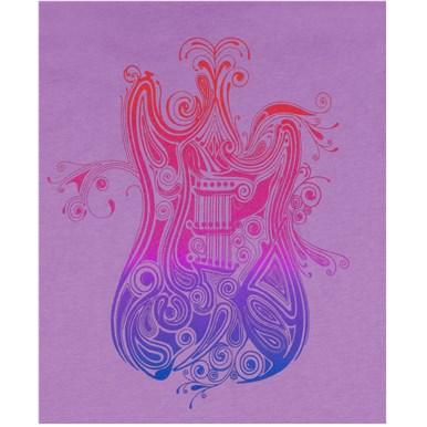 Fender® Ladies Paisely Fade T-Shirt  - Purple
