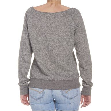 Fender® Ladies Long Sleeve Crop Pullover - Gray