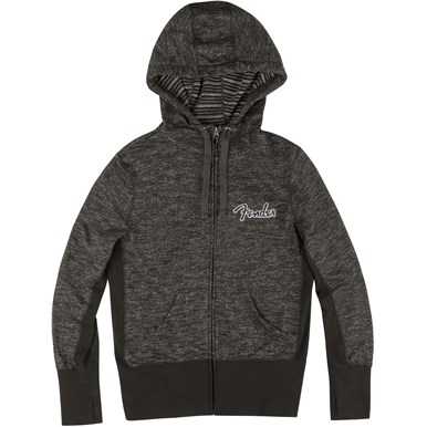 Fender® Ladies Long Sleeve Zipper Hoodie - Black