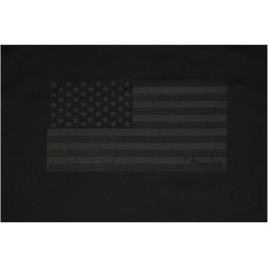 Fender® USA Flag Blackout T-Shirt - Black