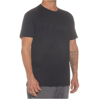 Fender® Spaghetti Logo T-Shirt - Black on Black
