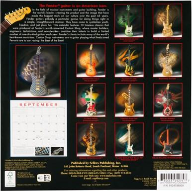 2017 Fender Custom Shop Wall Calendar -