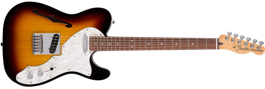Deluxe Tele® Thinline - 3-Color Sunburst