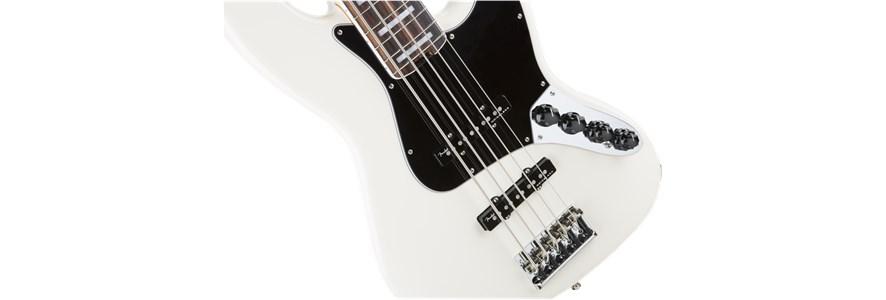 American Elite Jazz Bass® V - Olympic White