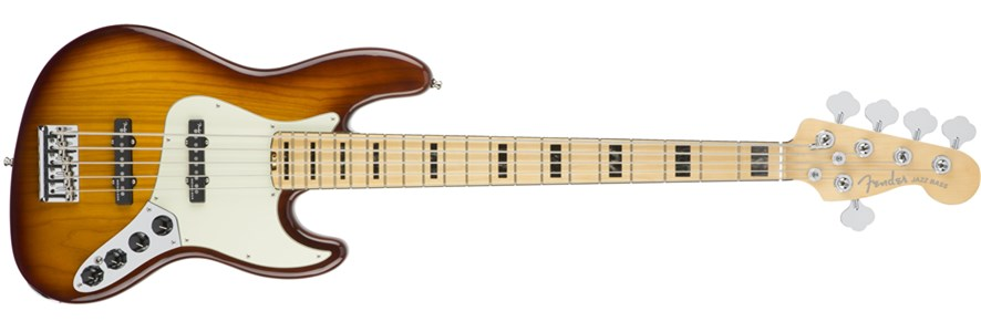 American Elite Jazz Bass® V - Tobacco Burst