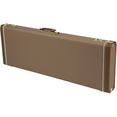 G&G Deluxe Hardshell Cases - Stratocaster®/Telecaster® - Brown with Gold Plush Interior