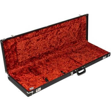G&G Deluxe Hardshell Cases - Jazz Bass® - Black with Orange Plush Interior