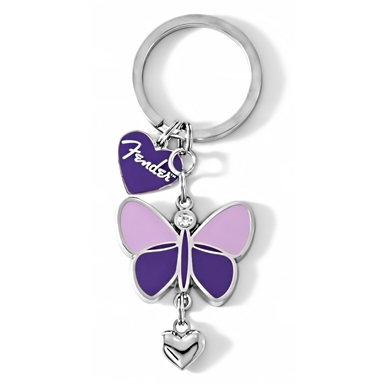 Fender™ Butterfly Keychain, Purple -