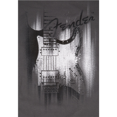 Fender® Airbrushed Strat® T-Shirt - Gray