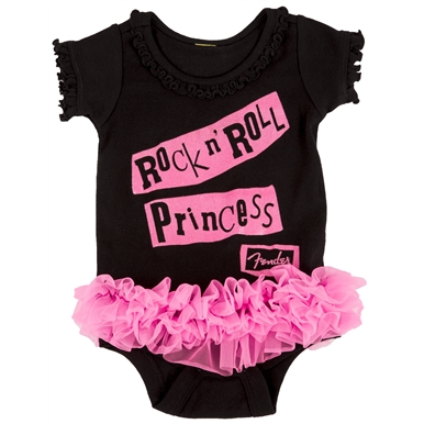 Fender® Rock 'n' Roll Princess Onesie - Black