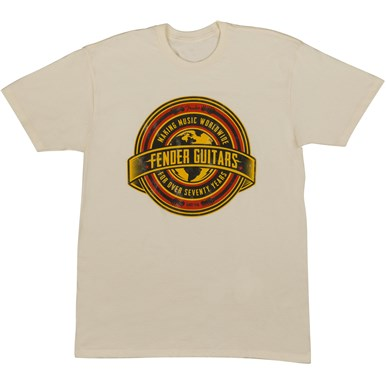 Fender® Worldwide Men's T-Shirt - Tan