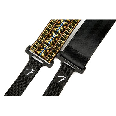 Fender® Banjo Straps - Red and Black