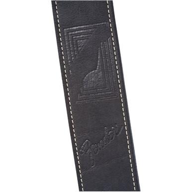 Fender® Monogram Leather Strap - Black