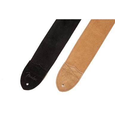 "Fender® ""F"" Suede Strap - Black"