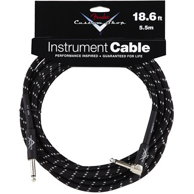 Fender® Custom Shop Cables (Straight-Right Angle) - Black Tweed
