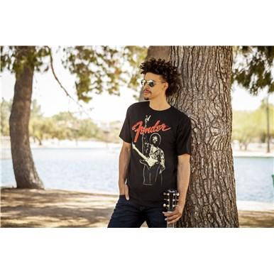 Fender® Jimi Hendrix Peace Sign T-Shirt - Black