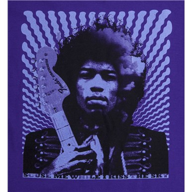 Fender® Jimi Hendrix Kiss the Sky T-Shirt - Purple