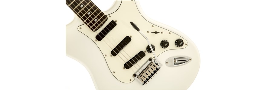 Deluxe Hot Rails™ Stratocaster® - Olympic White