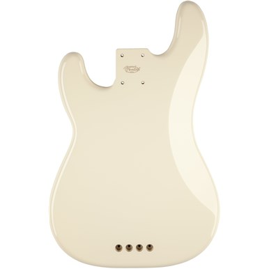 USA Precision Bass® Body (Modern Bridge) - Olympic White -