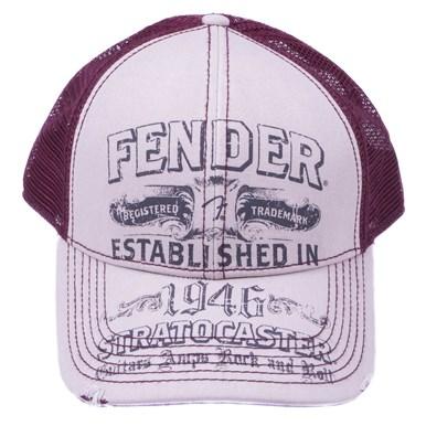 Fender® Strat® Trucker Hat - White