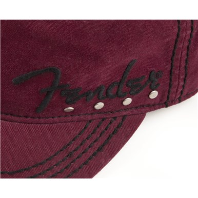 Fender® Studded Legion Cap - Wine Red