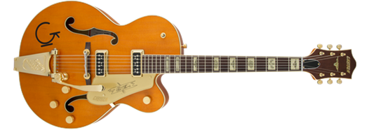 G6120T-55 Vintage Select Edition '55 Chet Atkins® Hollow Body with Bigsby®, TV Jones®, Vintage Orange Stain Lacquer