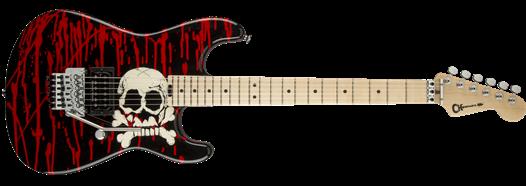 charvel® guitars warren demartini signature blood and skull pro mod