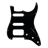 11-Hole Stratocaster® H/S/S Pickguards (3-Screw Humbucking Pickup Mount) - Black