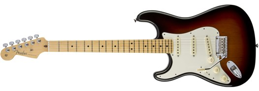American Standard Stratocaster® Left-Hand in 3-Color Sunburst