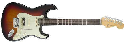 American Elite Stratocaster® HSS Shawbucker - 3-Color Sunburst