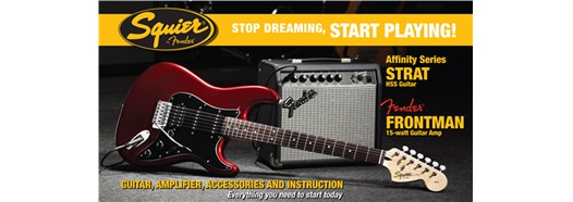 Stop Dreaming, Start Playing!™ Set: Affinity Series™ Strat® HSS with Fender Frontman® 15G Amp Candy Apple Red