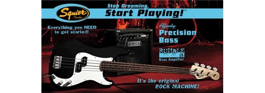 Stop Dreaming, Start Playing!™ Set: Affinity Series™ P Bass® with Rumble™ 15 Amp in Black